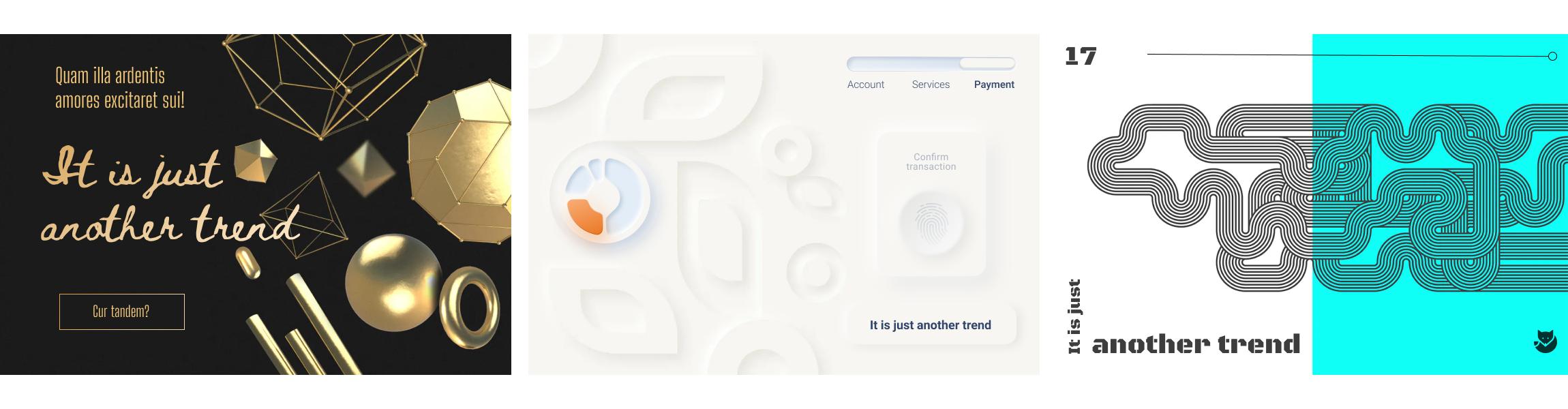 modern web design trends sample